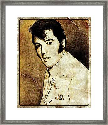 Vintage Style Elvis Presley Framed Print