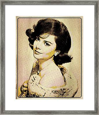 Vintage Style Natalie Wood Framed Print by Esoterica Art Agency