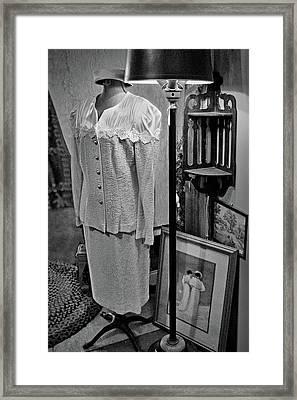 Vintage Suit - Floor Lamp Framed Print by Nikolyn McDonald