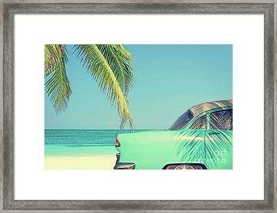 Vintage Summer Framed Print by Delphimages Photo Creations