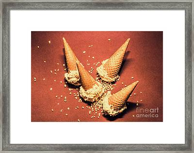 Vintage Summer Ice Cream Spill Framed Print by Jorgo Photography - Wall Art Gallery