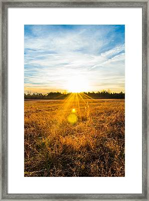 Vintage Sunset Framed Print by Shelby Young