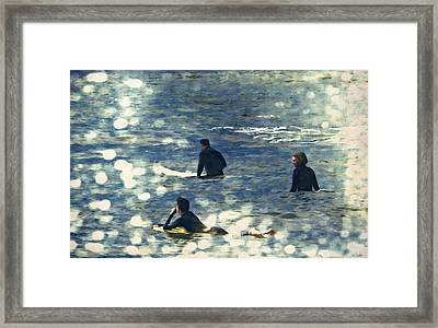 Vintage Surf Framed Print by Heather Joyce Morrill