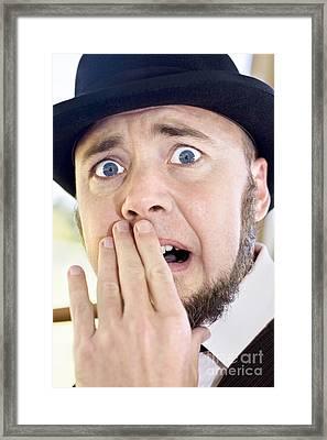 Vintage Surprise Framed Print