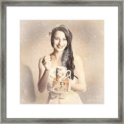 Vintage Tea Advertisement Pin-up Framed Print by Jorgo Photography - Wall Art Gallery