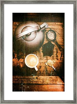 Vintage Tea Crate Cafe Art Framed Print