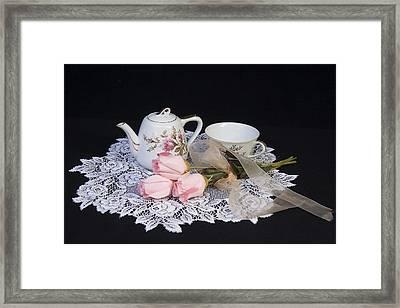 Vintage Tea Set Framed Print