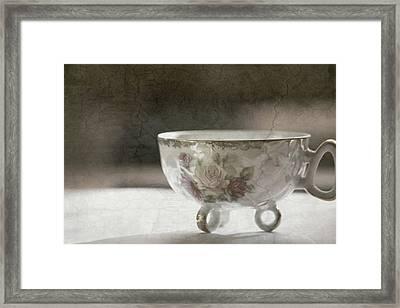 Vintage Teacup Framed Print
