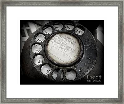 Vintage Telephone Framed Print by Lainie Wrightson