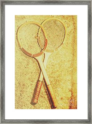 Vintage Tennis Racquets Framed Print by Jorgo Photography - Wall Art Gallery