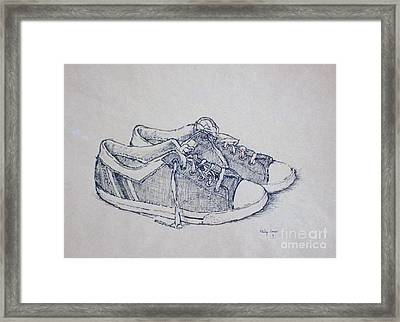 Vintage Tennis Shoes Framed Print by Philip Jones