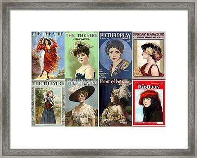 Vintage Theatre Magazine Covers Framed Print