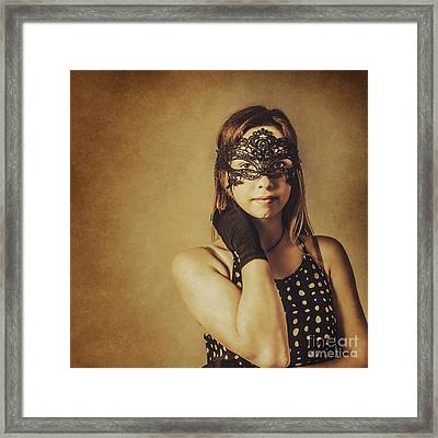 Vintage Theatre Show Girl  Framed Print by Jorgo Photography - Wall Art Gallery