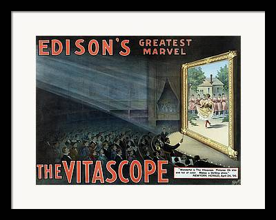 Edison Mixed Media Framed Prints