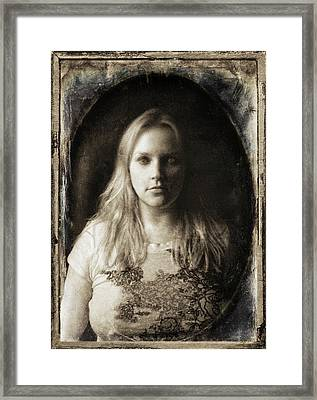 Vintage Tintype Ir Self-portrait Framed Print