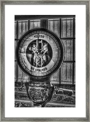 Vintage Toledo No Springs Scale Bw Framed Print by Susan Candelario