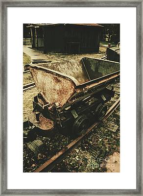 Vintage Toned Mine Cart Framed Print by Jorgo Photography - Wall Art Gallery