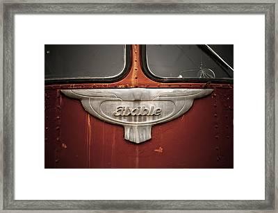 Vintage Tour Bus Framed Print