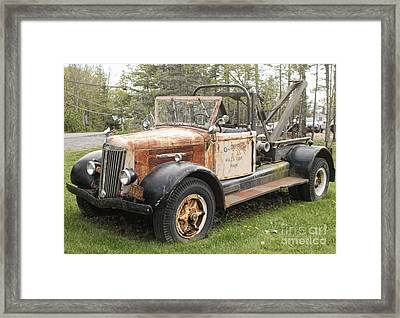 Vintage Tow Truck Framed Print