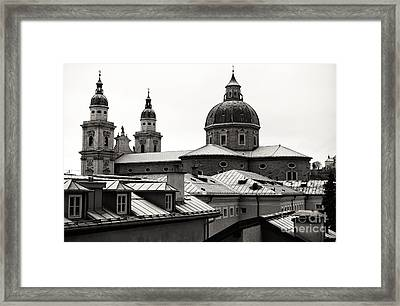 Vintage Towers In Salzburg Framed Print by John Rizzuto