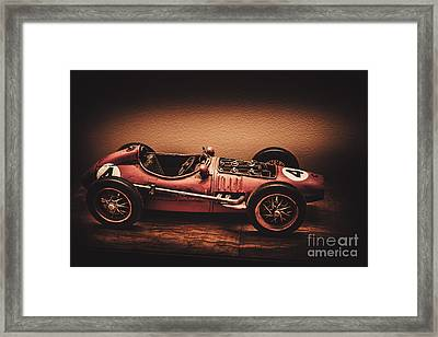 Vintage Toy Model Racing Car Framed Print by Jorgo Photography - Wall Art Gallery