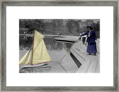 Vintage Toy Sailboat Framed Print by Andrew Fare
