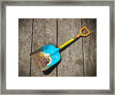 Big Boss Vintage Toy Shovel Framed Print