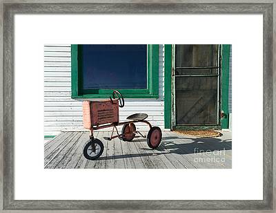 Vintage Toy Tractor Framed Print by Catherine Sherman