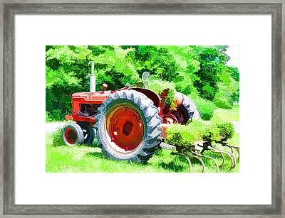 Vintage Tractor 1 Framed Print