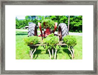 Vintage Tractor 3 Framed Print