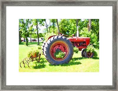 Vintage Tractor 4 Framed Print