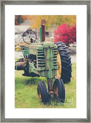 Vintage Tractor Autumn Framed Print