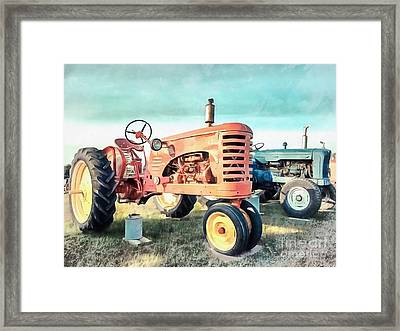 Vintage Tractors Acrylic Framed Print by Edward Fielding