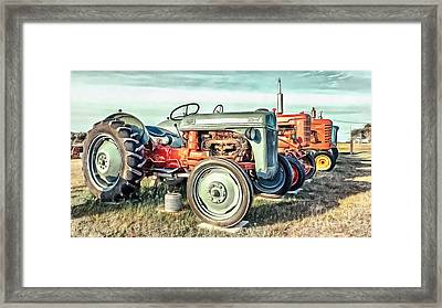 Vintage Tractors Ford  Framed Print by Edward Fielding