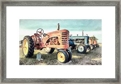 Vintage Tractors New Glasgow Pei Framed Print by Edward Fielding