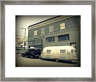 Vintage Trailer In Crockett Framed Print