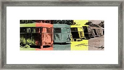Sarasota Series Vintage Trailer Park Pop Art Framed Print by Edward Fielding