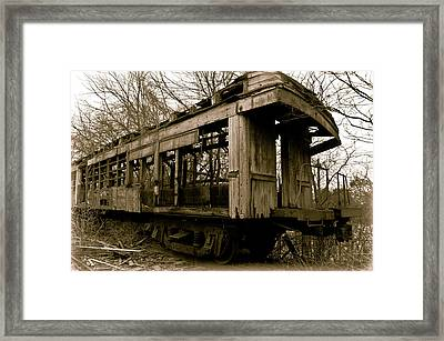 Vintage Train Framed Print