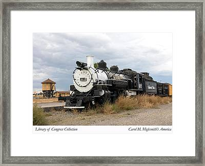 Framed Print featuring the photograph Vintage Train At A Scenic Railroad Station In Antonito In Colorado by Carol M Highsmith
