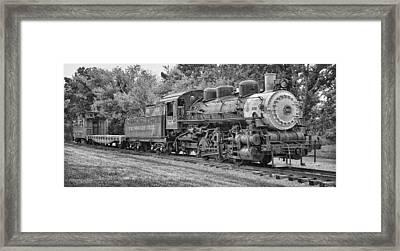 Vintage Train Framed Print by Brian Mollenkopf