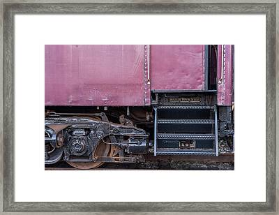 Framed Print featuring the photograph Vintage Train Car Steps by Terry DeLuco