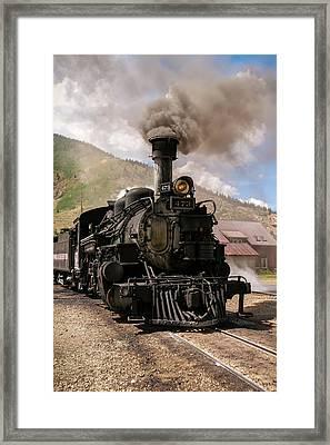 Vintage Train Engine Framed Print by K Pegg