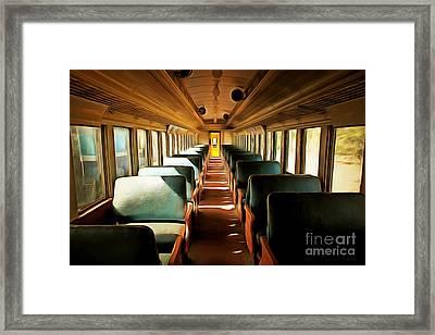 Vintage Train Passenger Car 5d28306brun Framed Print by Home Decor