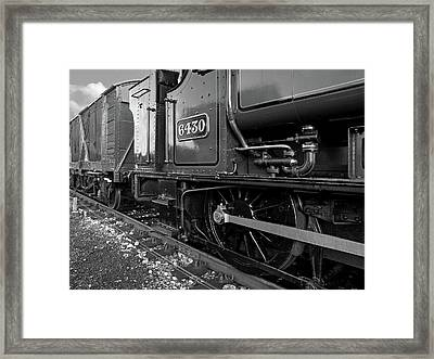 Vintage Train Wheels Framed Print by Gill Billington