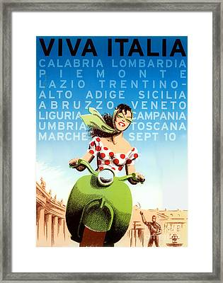 Vintage Travel Italy Framed Print by Mindy Sommers