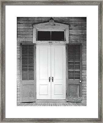 Framed Print featuring the photograph Vintage Tropical Weathered Key West Florida Doorway by John Stephens