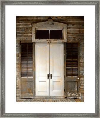 Vintage Tropical Weathered Key West Florida Doorway Framed Print