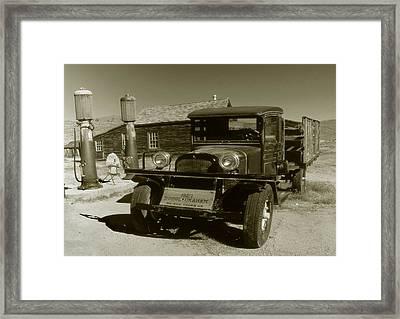 Old Truck 1927 - Vintage Photo Art Print Framed Print