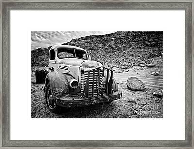 Vintage Truck Framed Print