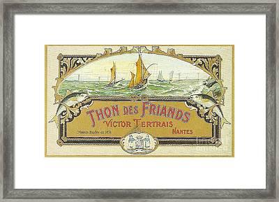 Vintage Tuna Can Label Framed Print